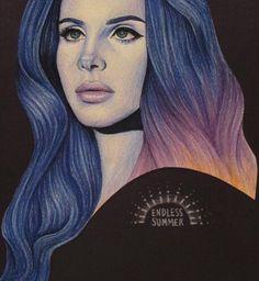 Lana Del Rey #LDR #art by Peter Curtis  #Endless_Summer_Tour