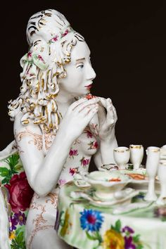 Chris Antemann Dining in the Altogether (detail)
