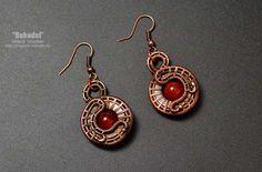 Earrings made of wire Jewelry Design Earrings, Ear Jewelry, Wire Earrings, Copper Jewelry, Copper Wire, Diamond Jewelry, Jewlery, Wire Jewellery, Silver Earrings