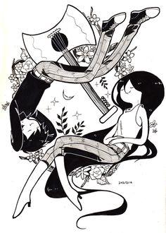 "birdstump: ""Marshall Lee/Marceline, by なめし """
