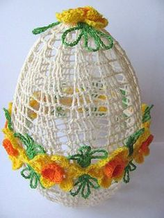 crocheted egg