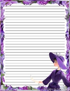 Made by Pecoranera Stationary Printable, Printable Frames, Printable Paper, Lined Writing Paper, Writing Papers, Graph Paper, Note Paper, Scrapbook Supplies, Stationery