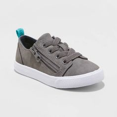 Toddler Boys' Luka Sneakers - Cat & Jack™ Gray 11 : Target Light Up Sneakers, Slip On Sneakers, Casual Sneakers, Boys Closet, Cat And Jack, Toddler Boys, How To Look Better, Baby Shoes, Grey