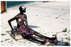 Ajak Deng is a Futuristic Glamazon for Obsession Magazine by Julia Noni