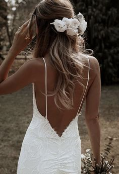 Beach wedding dress dress The BACK! We have the angle of the bottom . - Beach wedding dress dress The BACK! We have the angle of the lower back on … – wedding - Marie's Wedding, Wedding Goals, Mermaid Wedding, Perfect Wedding, Backless Wedding, Wedding Ideas, Wedding Beach, Wedding White, Casual Wedding