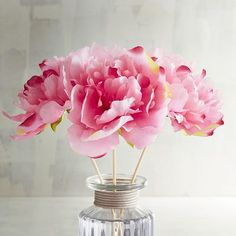 Faux Pink Peony Decorative Reeds   Pier 1 Imports