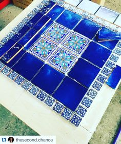 Check out the beautiful tables made by @thesecond.chance furniture ! She cuts and tiles old reclaimed tables making them beautiful with Spanish/Mexican tile! She is in the San Diego area and must sell this to feed her tile addiction! Be a tile enabler! I'll be joining her in tile addicts anonymous #Repost @thesecond.chance Cuts cuts and more cuts #spanishtilelove #interiordesign #mexicantile #homedecor #northcountysd #oceanside #encinitas #table #furniture #spanishtile #talavera…