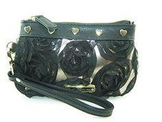 Betsey Johnson Pretty Girl Wristlet Purse Black Multi - http://bags.bloggor.org/betsey-johnson-pretty-girl-wristlet-purse-black-multi/