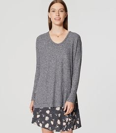 Image of Ribbed Tunic Sweater