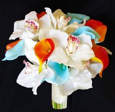 Natural Touch Color Mix Orchids and Calla Lilies Bouquet