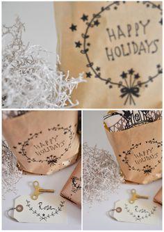Shhh my Darling: Free printable Christmas wrap templates! Christmas Bags, Christmas Gift Wrapping, Christmas Love, Winter Christmas, Christmas Crafts, Free Christmas Printables, Free Printables, Printable Templates, Craft Gifts