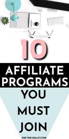 10 EASIEST and best affiliate programs to make money in 2019 The 10 best affiliate marketing program Make Money Blogging, Make Money Online, How To Make Money, Earn Money, Money Fast, Blogging Ideas, Money Tips, Ganhos Online, Online Jobs