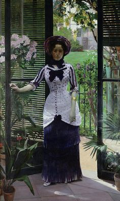 In The Greenhouse Painting by Albert Bartholome
