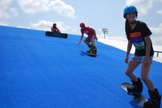 Texas Ski Ranch Snow Park  Texas Ski Ranch in New Braunfels now has an additional facility, which is a huge outdoor snowboarding park. The snow park was officially opened in Oct 2013 for snowboarding in Texas style. The slopes are constructed and enveloped in an exceptional kind of Astroturf, which is a perfect imitation of the effects of real snow.