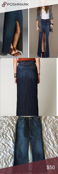 29e162fe780 Free People Genetic Denim The Chloe Denim Skirt  The Chloe  denim maxi  skirt with