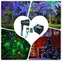 Red&Blue&Green moving outdoor garden laser Christmas laser decor night star holiday projector  with Stake
