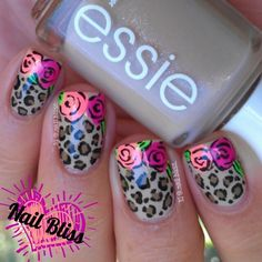 Instagram media by _nail_bliss_ - Goodness its been a while since I have done my famous Roses & Leopard print nails. One of my all time fave designs I have done ever!! Originally my roses & leopard print nails design started with two roses and went on with only doing one, so I went back to my original design. I love the mix of nude & neons. Check back to my original design under a new personal hashtag I started #nailblissrosesandleopardprintnails Remember girlies if you recreated one of my…