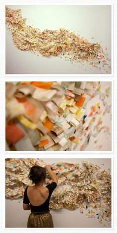 Awesome paper wall sculpture