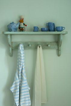 What a sweet storage idea! | Farrow & Ball - Pavilion Blue us.farrow-ball.com