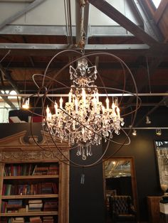 This chandelier is industrial chic perfection! #SilestoneTrends