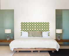 A head board creates a chic focal point in a room, making your bed into a stylish and inviting space. A beautiful head board can pull a whole room together.  Luckily, it is super easy to make a DIY headboard! WallPops wall decals are the easiest way to add a design to your current headboard, or to create one on blank wall space! Simply peel and stick to create a custom look behind your bed with instantaneously dazzling results!