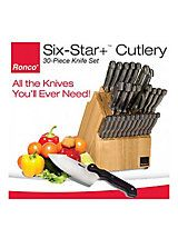 Ronco Six Star+™ 30-Pc. Cutlery Set