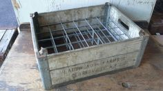 Vintage Small Bottle Wood Milk Crate by VintageRelics802 on Etsy