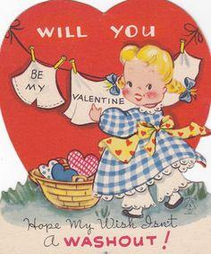 Retro Valentine Cards | Vintage Valentines Day Card UnUsed 1940's by RetroVintageBazaar