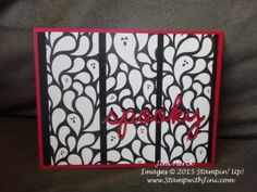 Let's get Spooky with the Seasonal Frame Thinlit Dies and Happy Haunting Designer Series Paper!