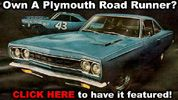1969 Plymouth Road Runner Factory Advertisement