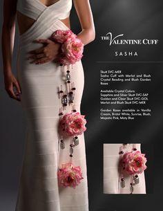 The Sasha Cuff in Merlot with Blush Garden Roses. Wedding Wishes, Diy Wedding, Dream Wedding, Floral Centerpieces, Floral Arrangements, Diy Boutonniere, Broach Bouquet, Bridal Cuff, Partys