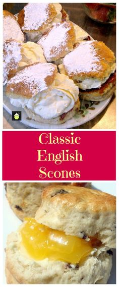 The Best Scone Recipes - Step by step recipe with tips on how to make perfect flaky, buttery cream scones, that are so addictive! Tea Recipes, Breakfast Recipes, Dessert Recipes, Cooking Recipes, Scone Recipes, English Scones, English Food, English Recipes, English Biscuits
