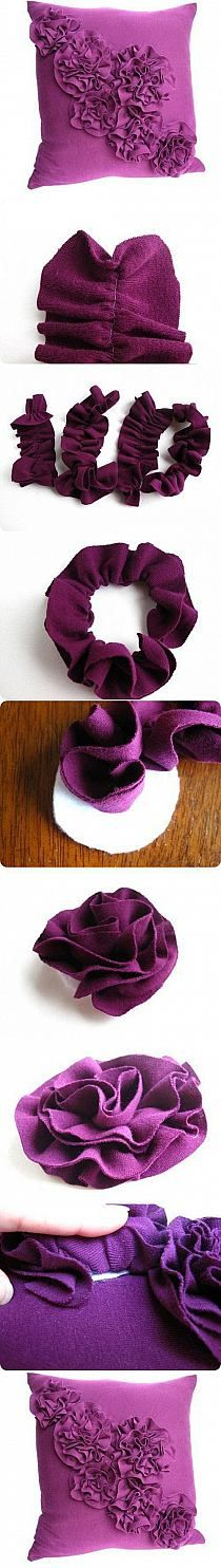 Ruffle flower cushion