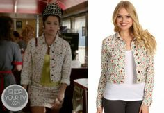 Shop Your Tv: The Carrie Diaries: Season 2 Episode 5 Donna's Fruit Print Jacket