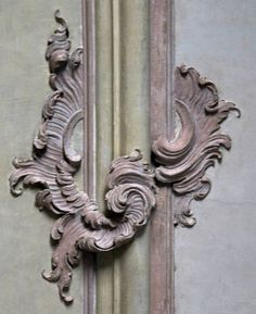 Rocaille motifs in the decoration of the Palazzo Reale, Genoa