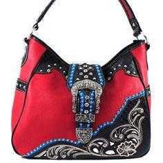 Western++Belt+Buckle+Purse++Handbag+  SKU+CHF-1098+RD Color+RED Dimension+13*12*4