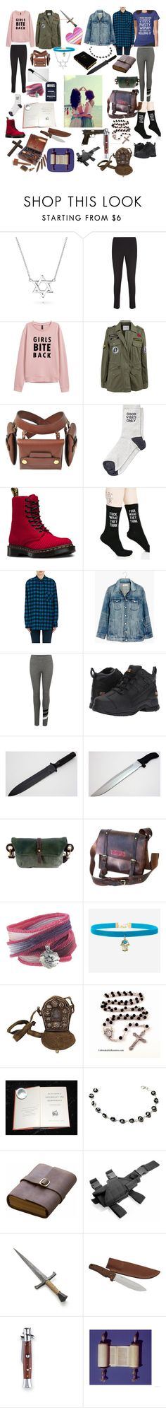 """Paranormal Hunter Girlfriends"" by ghostscientist ❤ liked on Polyvore featuring Bling Jewelry, Velvet by Graham & Spencer, STELLA McCARTNEY, Dr. Martens, Killstar, Adaptation, Madewell, Sundry, Ariat and NOVICA"