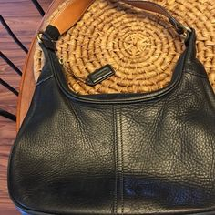 Coach leather purse medium size Blue Coach leather purse no stains no rips older coach purse in good condition 12 width by 7.  Older coach purse in good condition nice for clubs wallet in blue leather to go with it. Coach Bags Mini Bags