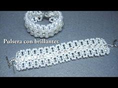 DIY - Pulsera con brillantes 1ª parte. DIY - Bracelet with brilliants 1st part. - YouTube