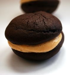Good Thymes and Good Food: Chocolate Whoopie Pies with Peanut Butter Filling