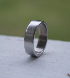 Mens Wedding Band 45mm Low Dome 10k Recycled Hand By TheSlyFox 41000