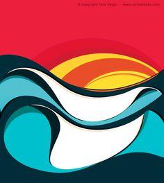 Tom Veiga. surf art.
