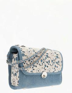 denim bag from bershka