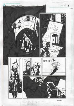 Hellboy in Hell by Mike Mignola pg 13 Comic Art