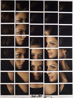 maurizio galimberti mosaics polaroid portrait compositions - catherine zeta jones