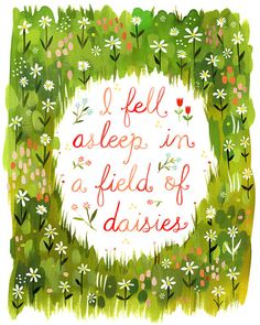 Daisyfield     vertical print by thewheatfield on Etsy, $18.00   This shop has cute prints :)