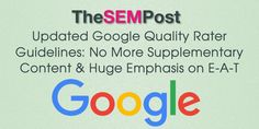 Here we go again!  A brand new version of the Google Quality Rater Guidelines has been released. With this version we see some interesting changes.  Most noticeably is the de-emphasis of supplementary content, surprising since previous versions have stressed the importance of the additional supplementary content there is on the page – or the negative …