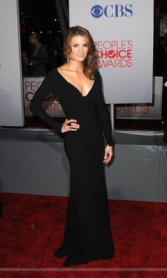 EVENTS: Stana Katic at the 2012 People's Choice Awards