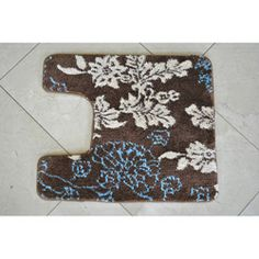 bath mat from Overtstock. I like the colors!
