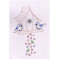 Birdhouse Stitching Cards pattern